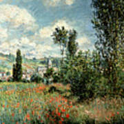Path Through The Poppies Poster by Claude Monet