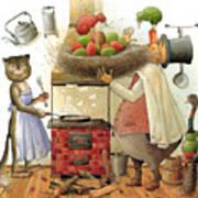 Pearman And Cat Poster by Kestutis Kasparavicius