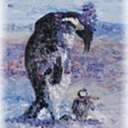 Penguin Love Poster by Nadine Rippelmeyer