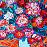 Peonies Bouquet Poster by Ana Maria Edulescu