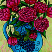 Peony Party Poster by Lisa  Lorenz