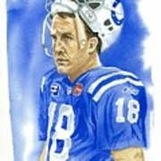 Peyton Manning - Heart Of The Champion Poster by George  Brooks