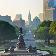 Philadelphia Benjamin Franklin Parkway Poster by Bill Cannon
