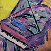 Piano Pink Poster by Anita Burgermeister