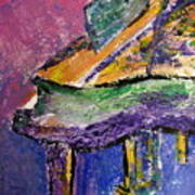 Piano Purple - Cropped Poster by Anita Burgermeister