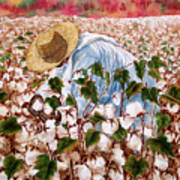 Picking Cotton Poster by Barbel Amos