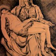Pieta Study Poster by Hanne Lore Koehler