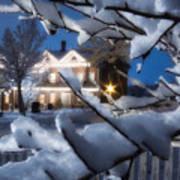 Pioneer Inn At Christmas Time Poster by Utah Images