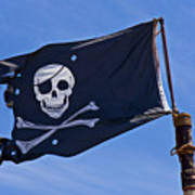Pirate Flag Skull And Cross Bones Poster by Garry Gay