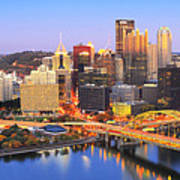 Pittsburgh Pano 22 Poster by Emmanuel Panagiotakis