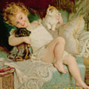 Playmates Poster by Emile Munier