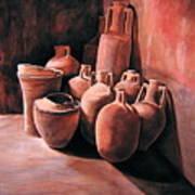 Pompeii - Jars Poster by Keith Gantos