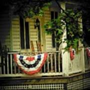Porch Flag Poster by Michael L Kimble