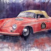 Porsche 356 Speedster Mille Miglia Poster by Yuriy  Shevchuk