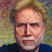 Portrait Of A Serious Artist Poster by James W Johnson