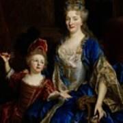 Portrait Of Catherine Coustard Poster by Nicolas de Largilliere