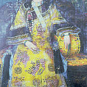 Portrait Of The Empress Dowager Cixi Poster by Chinese School