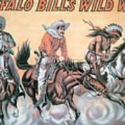 Poster For Buffalo Bill's Wild West Show Poster by American School