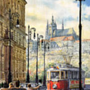 Prague Kaprova Street Poster by Yuriy  Shevchuk
