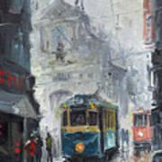 Prague Old Tram 04 Poster by Yuriy  Shevchuk
