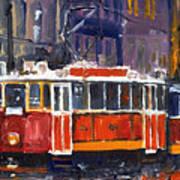 Prague Old Tram 09 Poster by Yuriy  Shevchuk