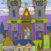 Prague Panorama Poster by Yuriy  Shevchuk