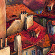 Prague Roofs Poster by Yuriy  Shevchuk