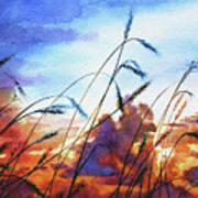 Prairie Sky Poster by Hanne Lore Koehler