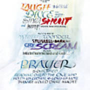 Prayer Poster by Judy Dodds