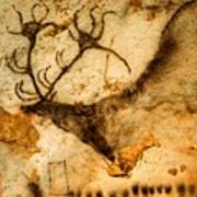 Prehistoric Artists Painted A Red Deer Poster by Sisse Brimberg