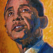 President Barack Obama Poster by David Lloyd Glover