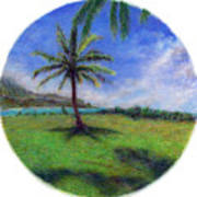 Princeville Palm Poster by Kenneth Grzesik