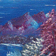Purple Mountain Landscape Poster by Jera Sky
