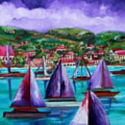 Purple Skies Over St. John Poster by Patti Schermerhorn