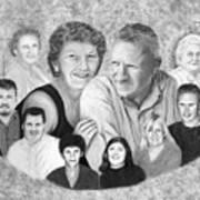 Quade Family Portrait  Poster by Peter Piatt