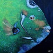 Queen Angelfish Poster by Barbara Teller