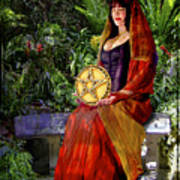 Queen Of Pentacles Poster by Tammy Wetzel