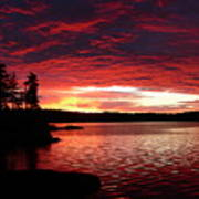 Quetico Sun Rise Poster by Peter  McIntosh