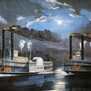 Race On Mississippi, 1860 Poster by Granger