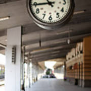 Railway Station Clock Poster by Deyan Georgiev