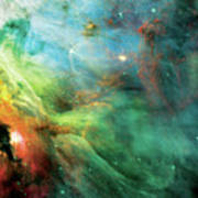 Rainbow Orion Nebula Poster by The  Vault - Jennifer Rondinelli Reilly