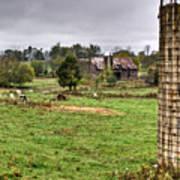 Rainy Day On The Farm Poster by Douglas Barnett