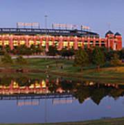 Rangers Ballpark In Arlington At Dusk Poster by Jon Holiday