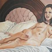 Reclining Nude Poster by Kenneth Kelsoe
