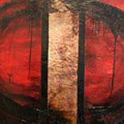 Red Circle Of Life Poster by Ellen Beauregard