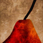 Red Pear IIi Poster by Carol Leigh