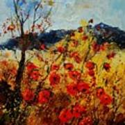 Red Poppies In Provence  Poster by Pol Ledent