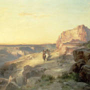 Red Rock Trail Poster by Thomas Moran