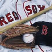 Red Sox Number Six Poster by Jack Skinner