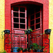 Red Window Poster by Mexicolors Art Photography